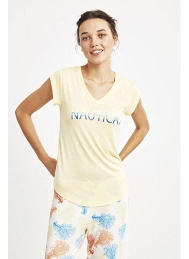 Nautica W124 Pijama Takım Sarı